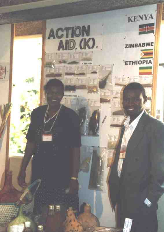 Display of Farmers working with Action Aid Kenya